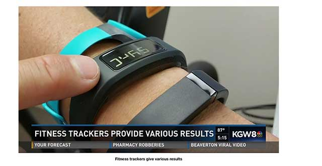 Image of 3 fitness trackers on a wrist