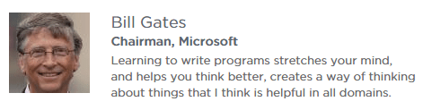Bill Gates on learning to code