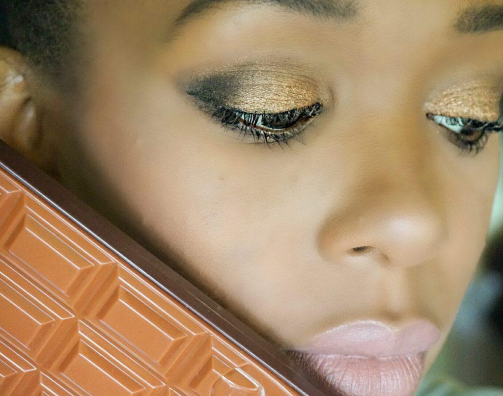 Look with Makeup revolution salted caramel palette