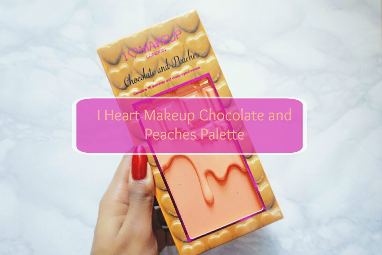 i heart makeup chocolate and peaches paleet feature image justnadiene