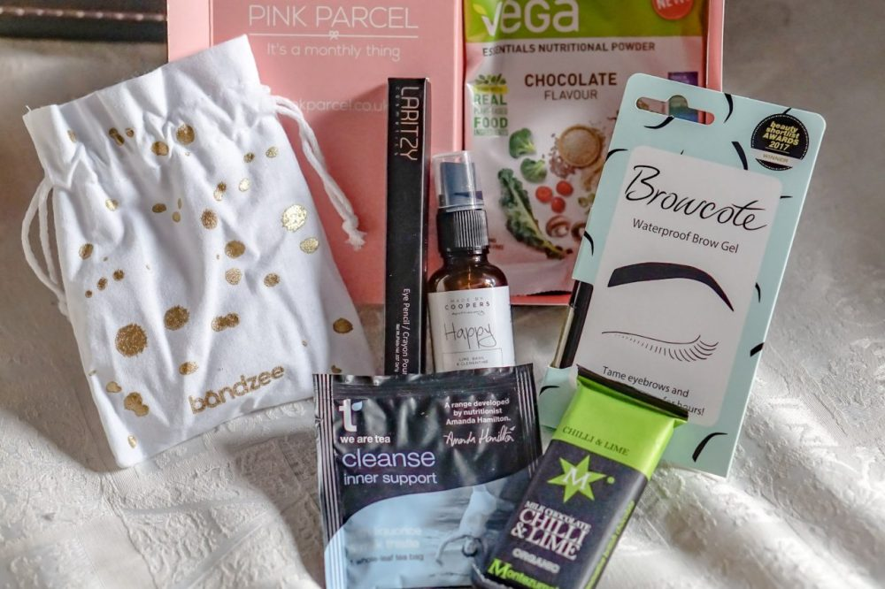 for you pink parcel box contents january