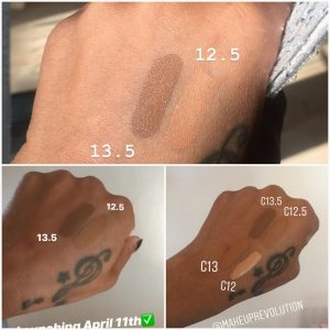 Fast Base foundation shade swatches by Makeup by Tammi