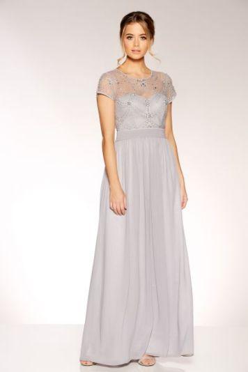 Quiz clothing usa grey maxi dress