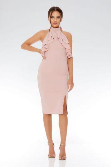 midi millenial pink dress