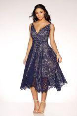 navy midi dress