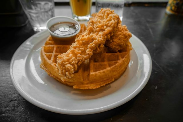 london chicken and waffles