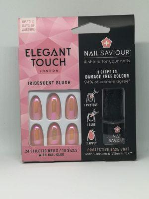 Elegant Touch Nail Saviour Iridescent Blush