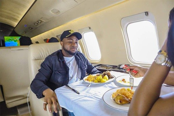 Davido names the real owner of 'his private jet'