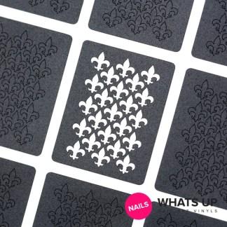 Fleur de Lis Stickers & Stencils