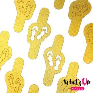 Flip Flops Stencils - neglevinyl med klipklapper