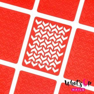 V-Pattern - neglevinyl med sjovt v-mønster