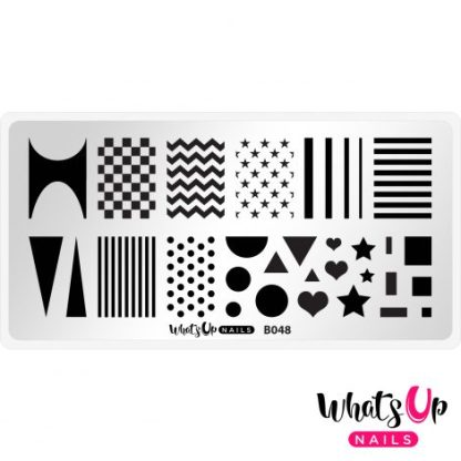 B48 Simple Shapes - Stampingplade mønstre striber prikker