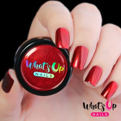 Fire Red Chrome - neglepulver rød