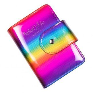 Regnbuefarvet taske fra Whatsupnails til opbevaring af stampingplader