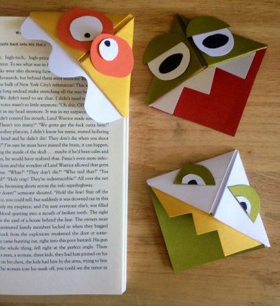 Bookmark corners