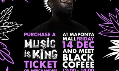 Black Coffee to host the inaugural Music Is King concert this weekend