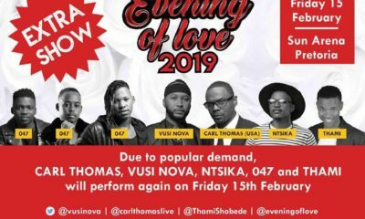 An extra date has been added for Vusi Nova's Evening of Love show