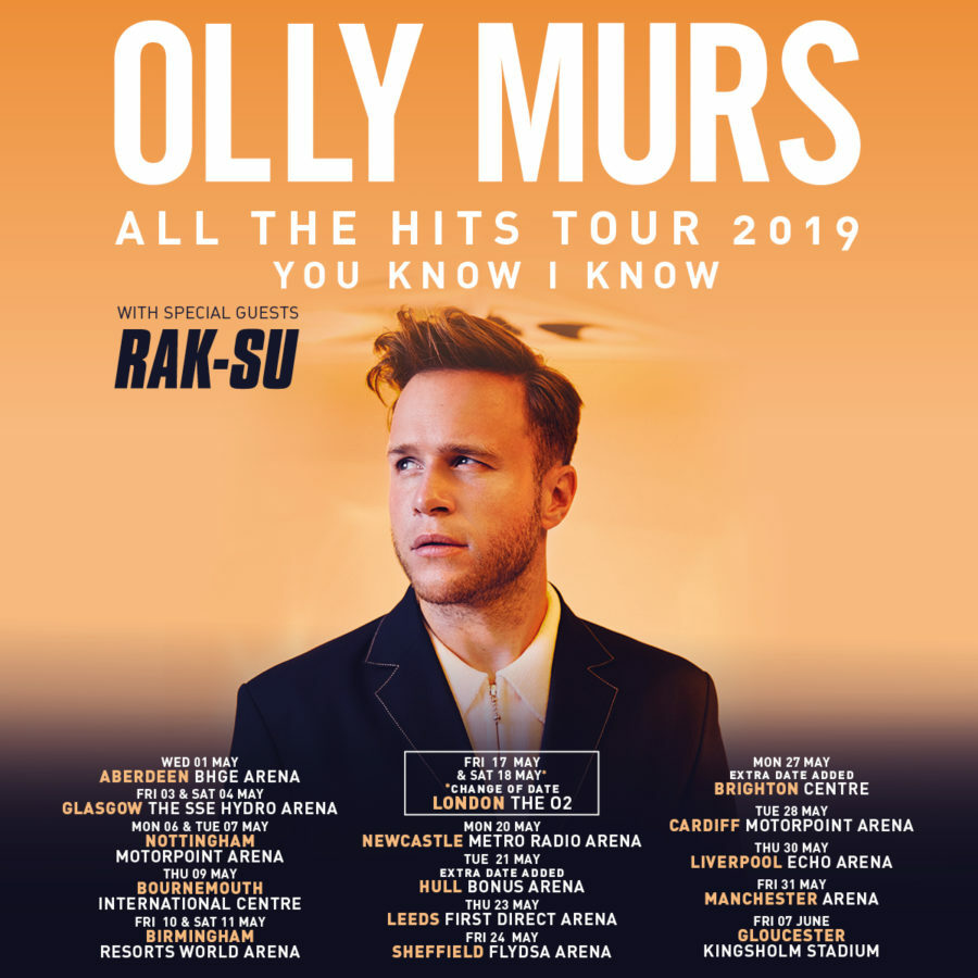 Olly Murs announces UK dates for his All The Hits tour