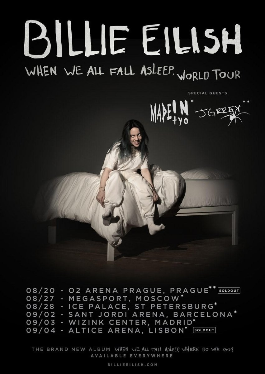 All The Girls Standing In The Line For The Bathroom: Billie Eilish Announces Supporting Acts For European Tour