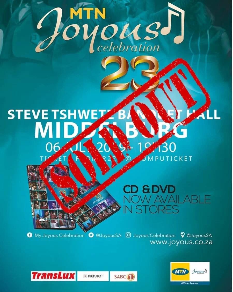 Joyous Celebration announces tickets for the Durban concert
