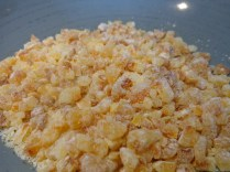 Chopped candied orange peel ready for decorating the cake!