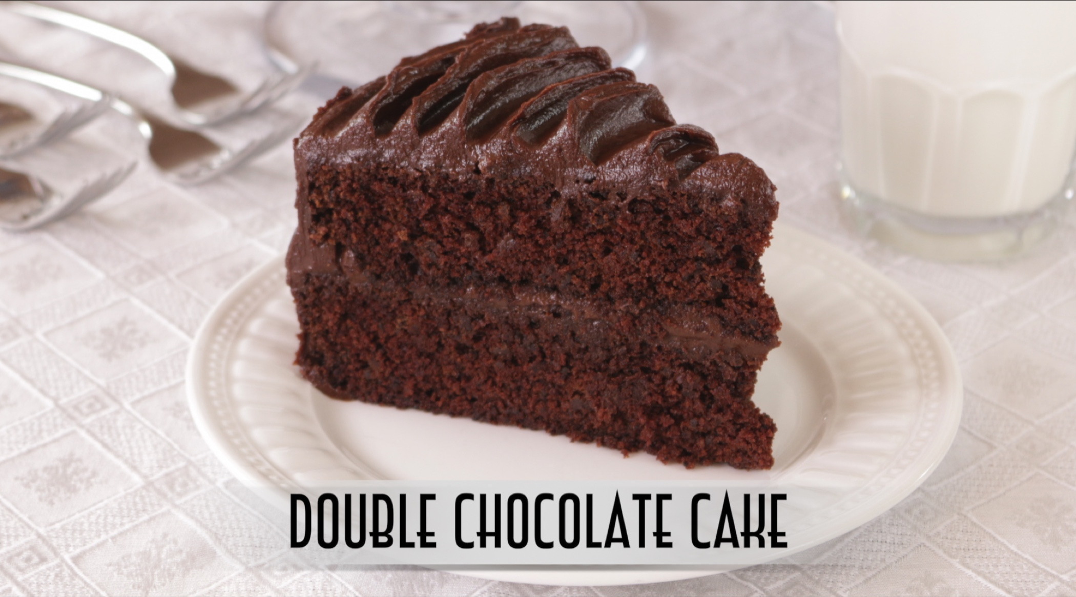 Double Chocolate Cake with Old Fashion Chocolate Fudge ...