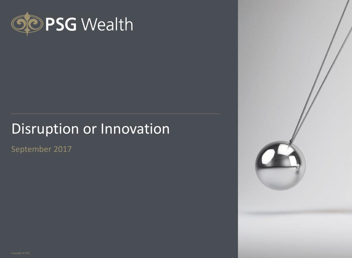 Disruptions or Innovation
