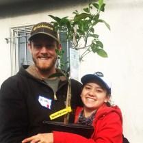 JOT Tree Raffle Winner Michael Eberhardt and friend.