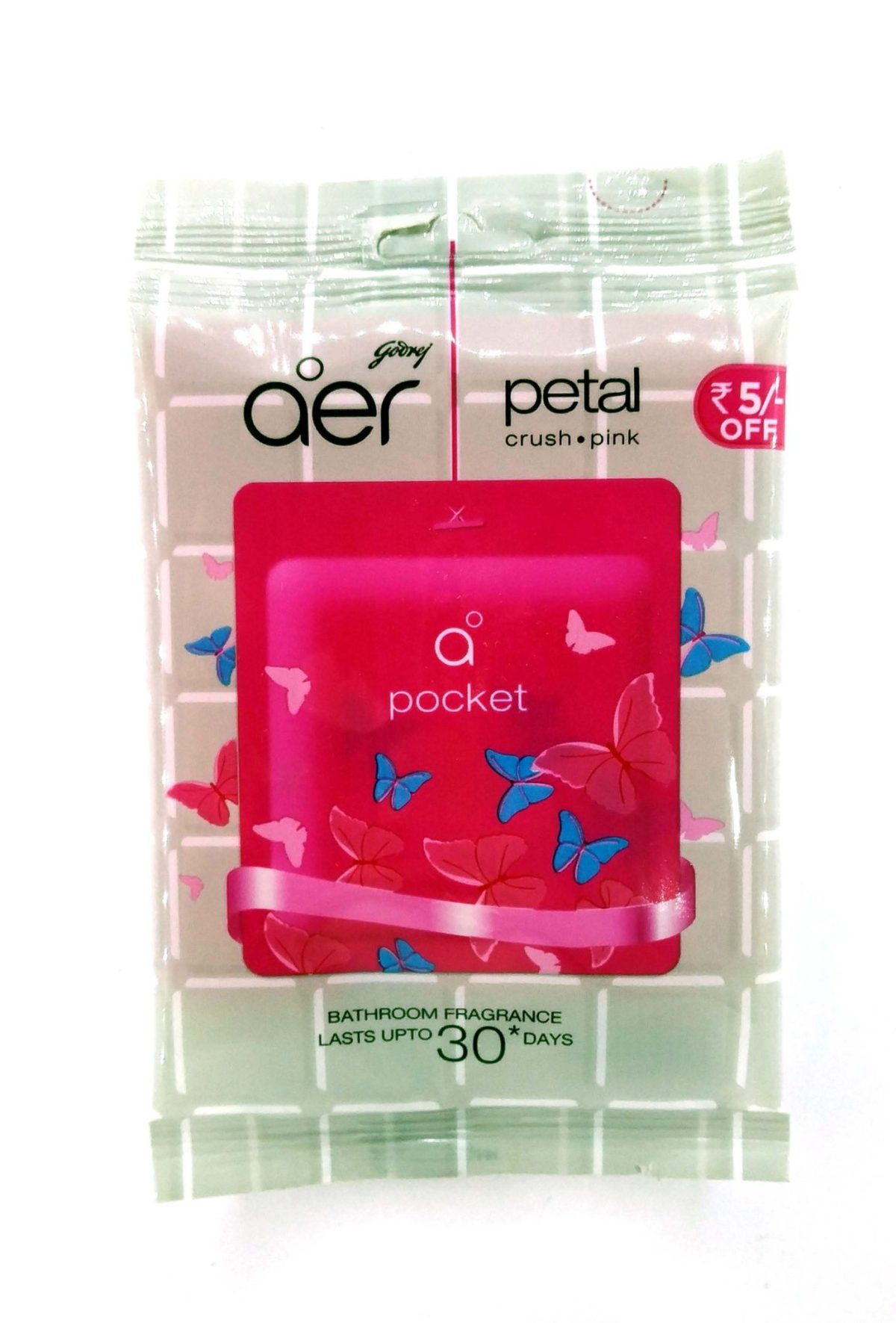Godrej Aer Bathroom Fragrance Petal Crush Pink Pocket Sachet ,10g