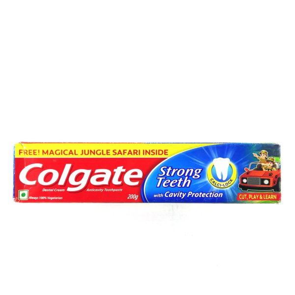 Colgate Strong Teeth - 200 g with Free Magical Jungle Safari Insdie