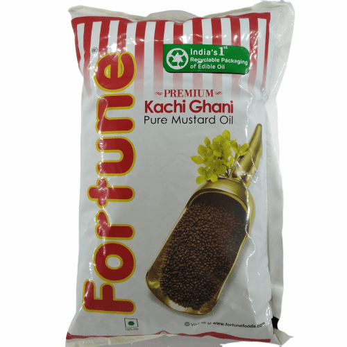 Fortune Sunflower Refined Oil, 1 lt Pouch