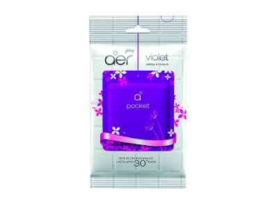 Godrej aer Pocket Bathroom Fragrance - 10 g (Violet Valley Bloom)