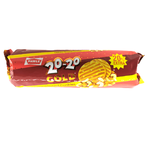 Parle 20-20 Gold Biscuits, Cashew Almond Cookie - 100g+20g Extra
