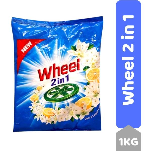 Active Wheel Detergent Powder - Green Lemon & Jasmine, 1Kg