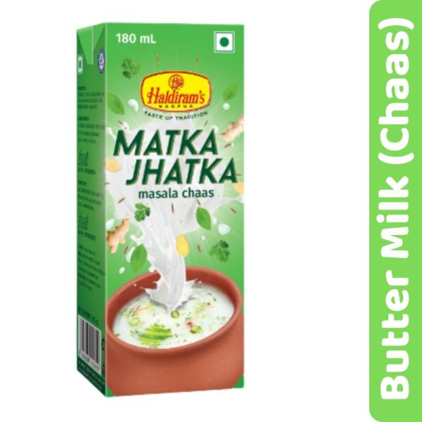 Haldirams Matka Jhatka Chaas (Butter milk)- 180ML
