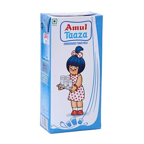 Amul Taaza Fresh Toned Milk, 200ml