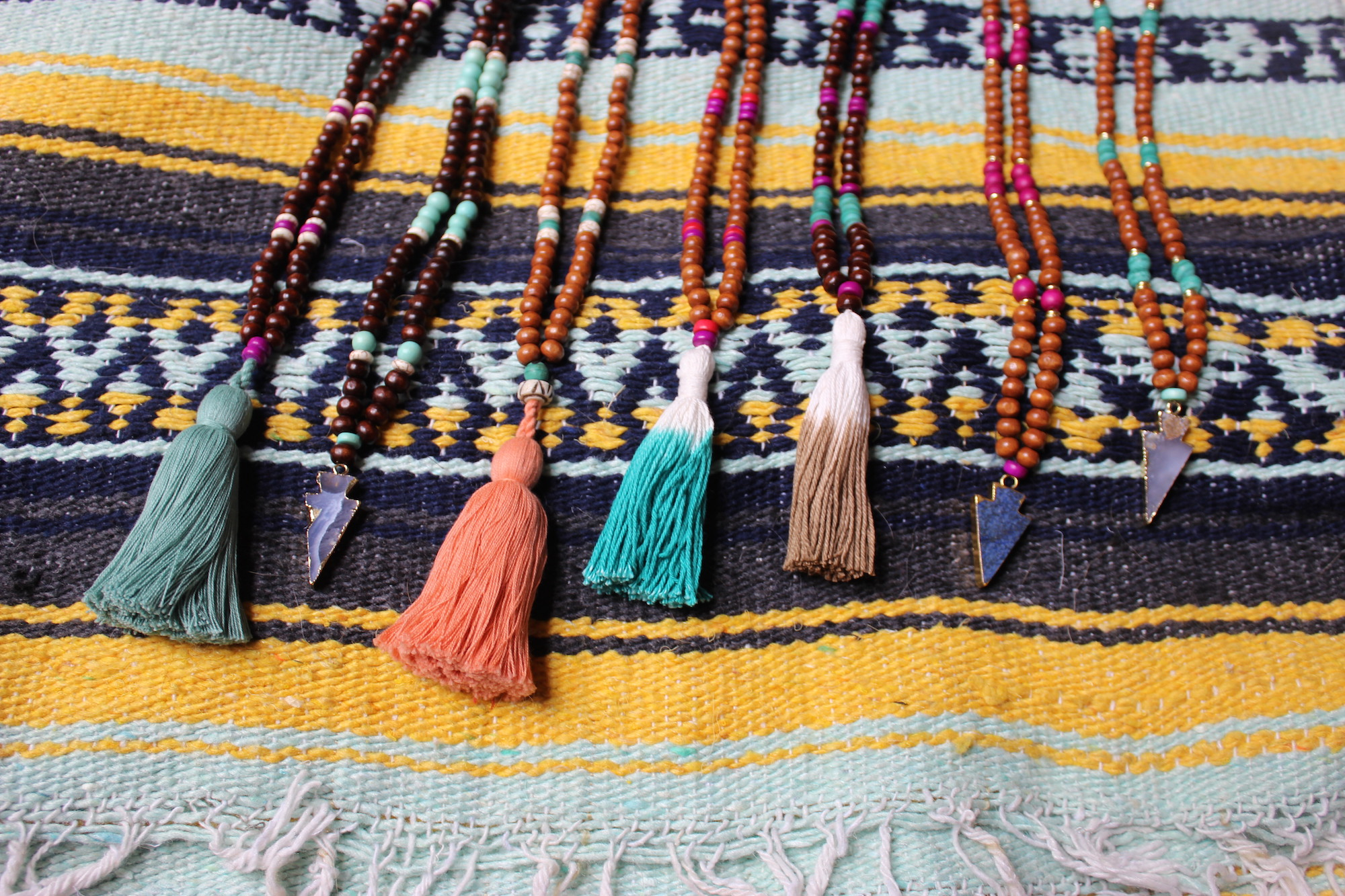 Tassel Necklaces and Arrowhead Necklaces | Just Peachy Blog