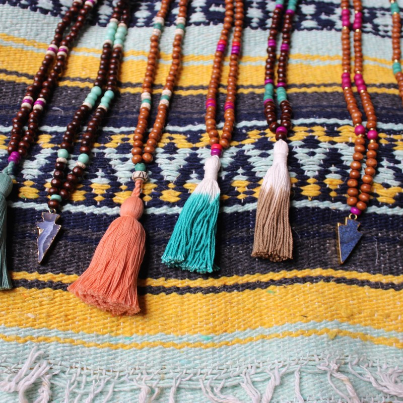 Tassel Necklaces and Arrowhead Necklaces   Just Peachy Blog