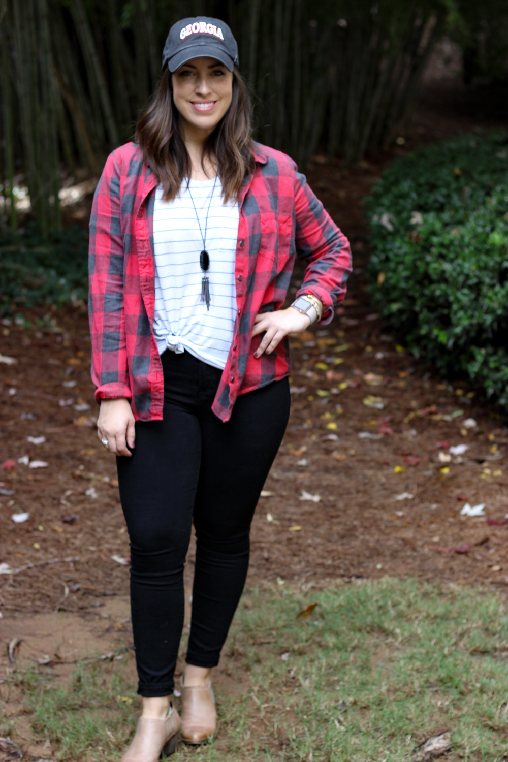 Football Gameday Tailgating Outfit | Just Peachy Blog