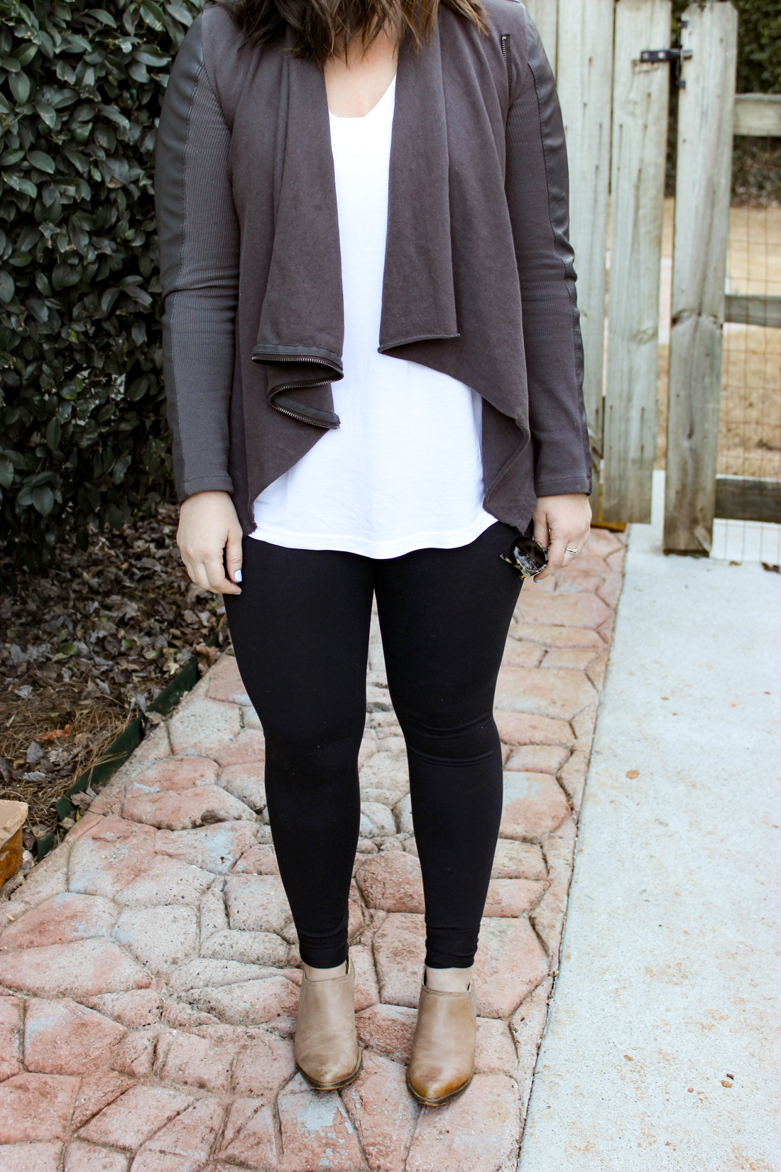 Leather Jacket Outfit | Just Peachy Blog