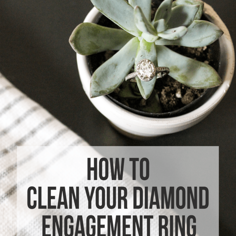 How to Clean Your Diamond Engagement Ring | Just Peachy Blog