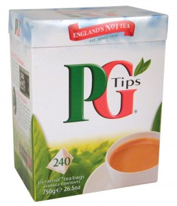 PG Tips in a 240 tea bag box.