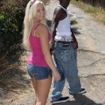 First pic of Blonde teen fucks huge black dick Interracial CUM