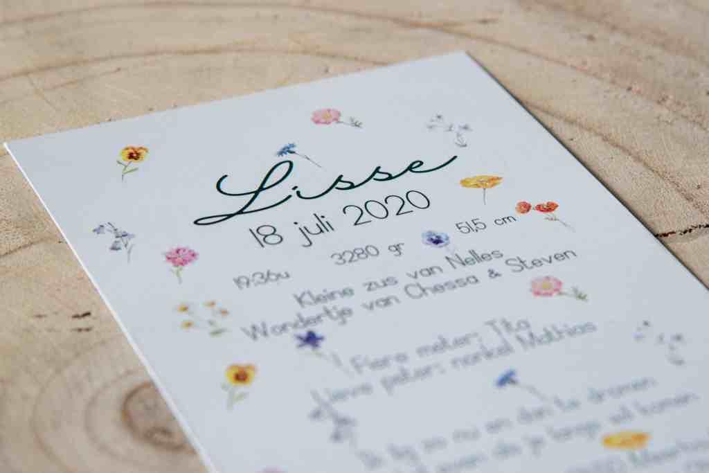 Geboortekaartje Lisse