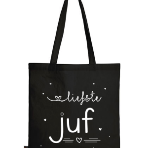 Geschenken: Tas juf - Zwart