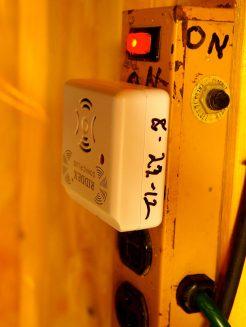 A sonic device to keep mice away.