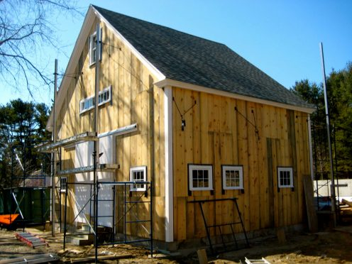 The barn before siding