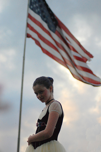 The Ballerina & the American Flag