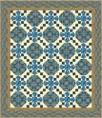 Istanbul Collection: Ancient Tiles of Istanbul pattern in Sapphire colorway