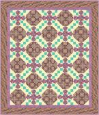 Istanbul Collection: Ancient Tiles of Istanbul pattern in fuchsia colorway